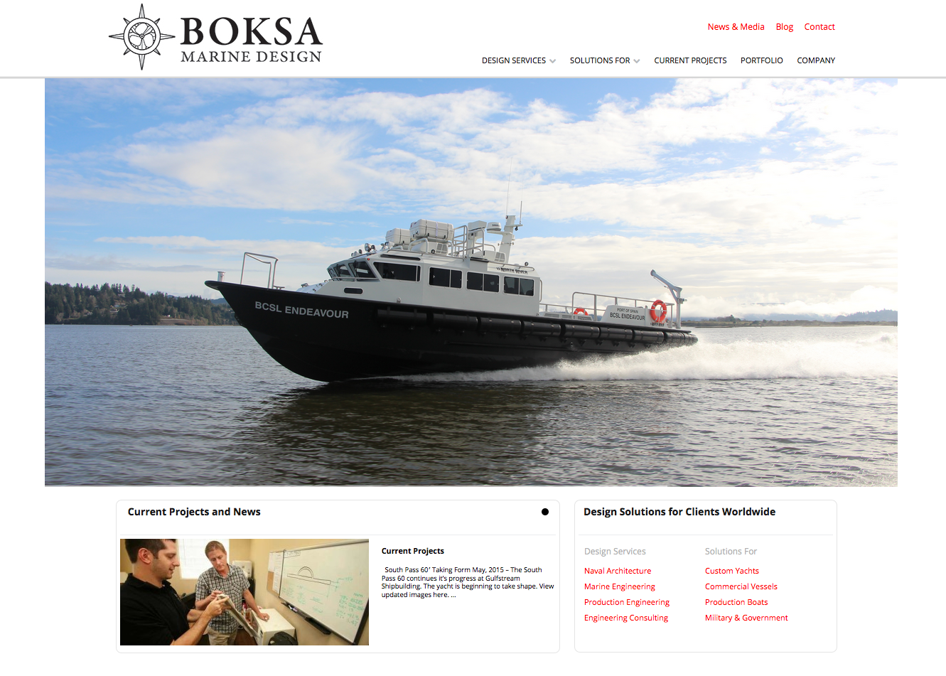 design websites for boating related companies and services in tampa florida