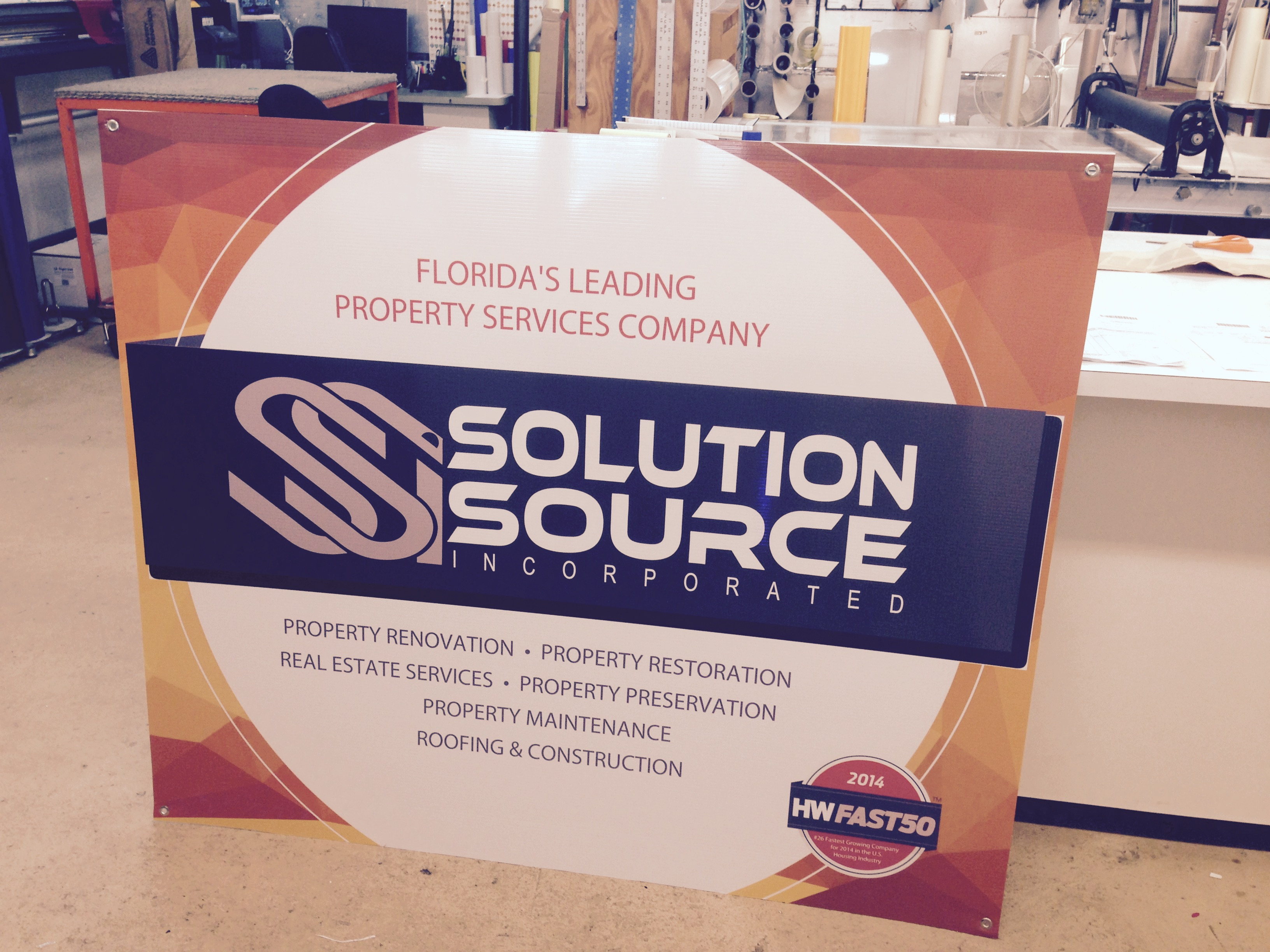 design of sign for marketing client in plant city