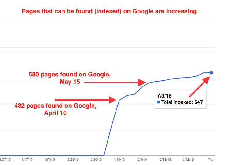 Pages Indexed by Google